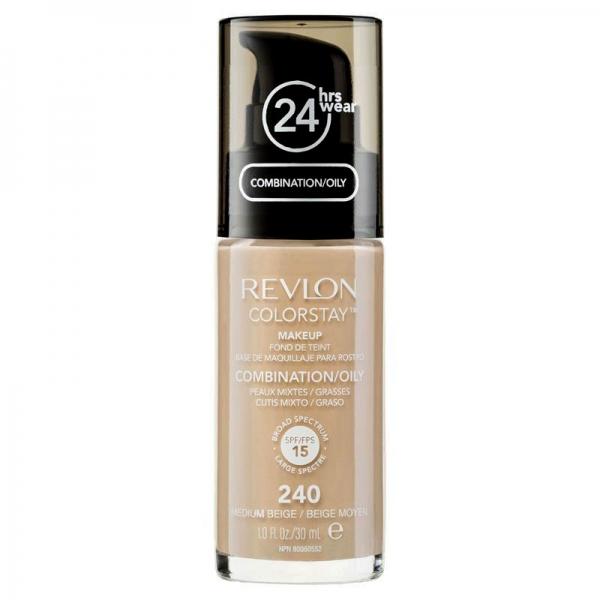 Fond De Ten Revlon Colorstay Oily Skin Cu Pompita - 240 Medium Beige, 30ml-big