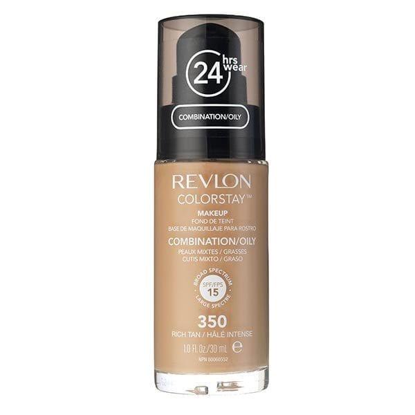 Fond De Ten Revlon Colorstay Oily Skin Cu Pompita - 350 Rich Tan, 30ml-big