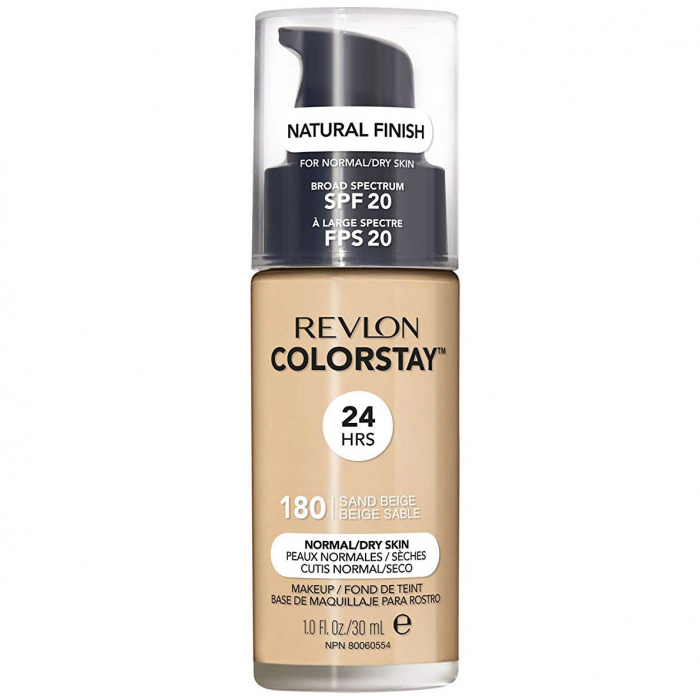 Fond De Ten Revlon Colorstay Normal / Dry Skin NATURAL FINISH, 24H, SPF 20 - 180 Sand Beige, 30ml-big