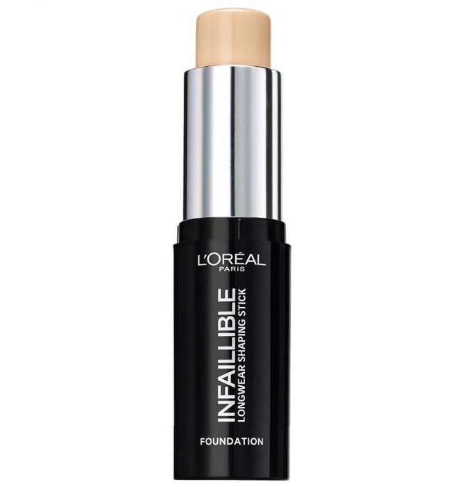 Fond de Ten Stick L'Oreal Paris Infaillible Longwear Shaping Stick, 180 Radiant Beige, 9 g-big