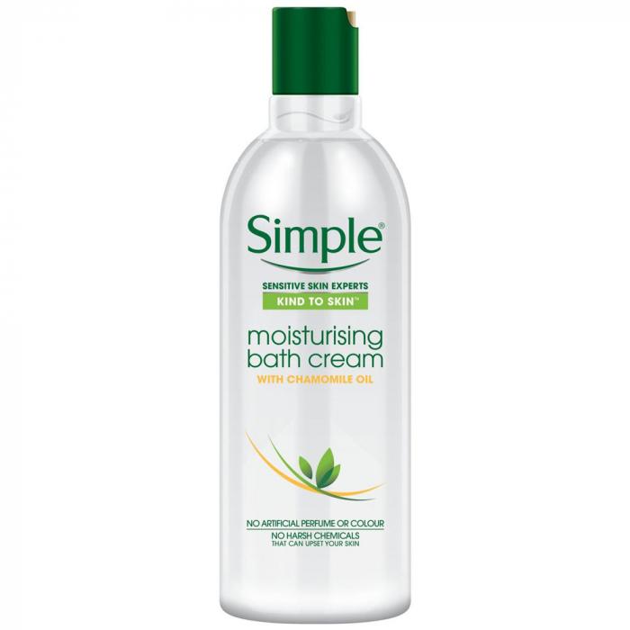 Crema de Baie cu Ulei Natural de Musetel pentru piele sensibila, Simple Moisturising Bath Cream, 400 ml-big