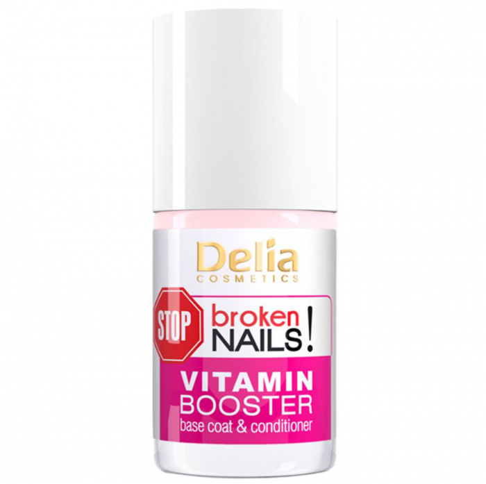 Baza si balsam cu Vitamine pentru Unghii deteriorate, Delia Cosmetics Stop Broken Nails, 11 ml-big