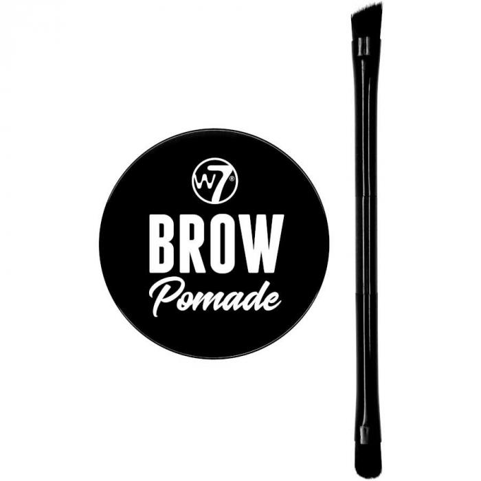 Kit cu Gel pentru Sprancene si Pensula dubla, W7 Brow Pomade, Blonde, 4.25 g-big