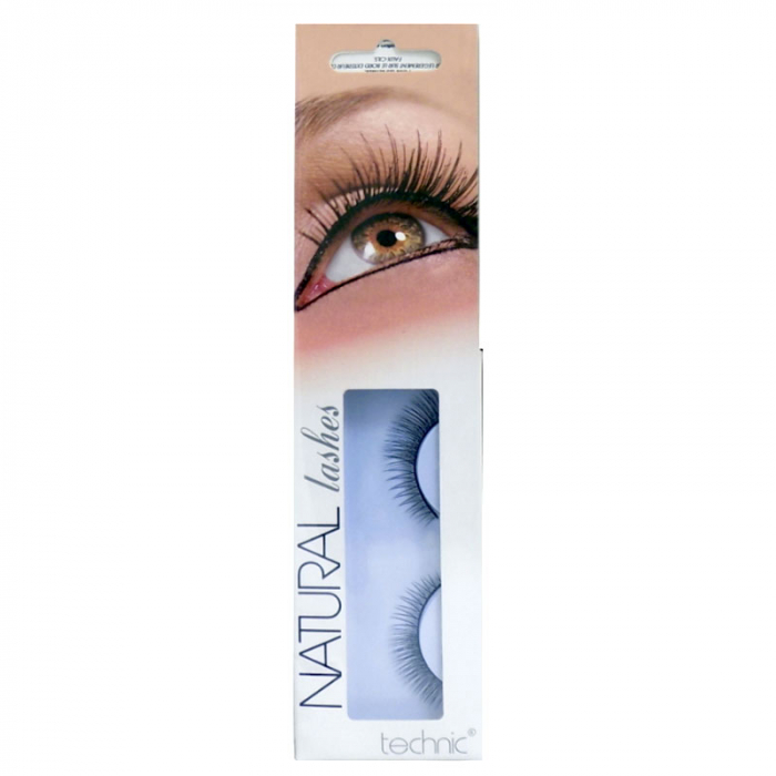 Gene False cu Aspect Natural TECHNIC Natural Lashes, adeziv inclus BC31-big