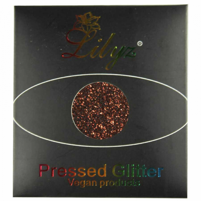 Glitter ochi Lilyz Pressed Vegan Glitter, Love Chocolate, 1.5 g-big