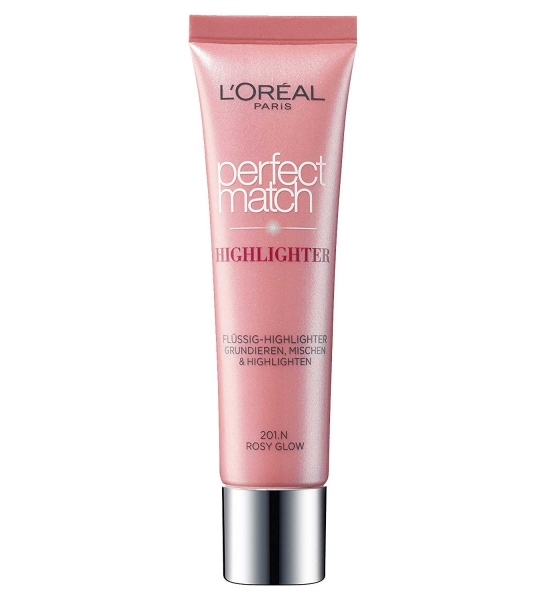 Iluminator multifunctional L'OREAL Perfect Match Highlighter - 201.N Rosy Glow, 30 ml-big
