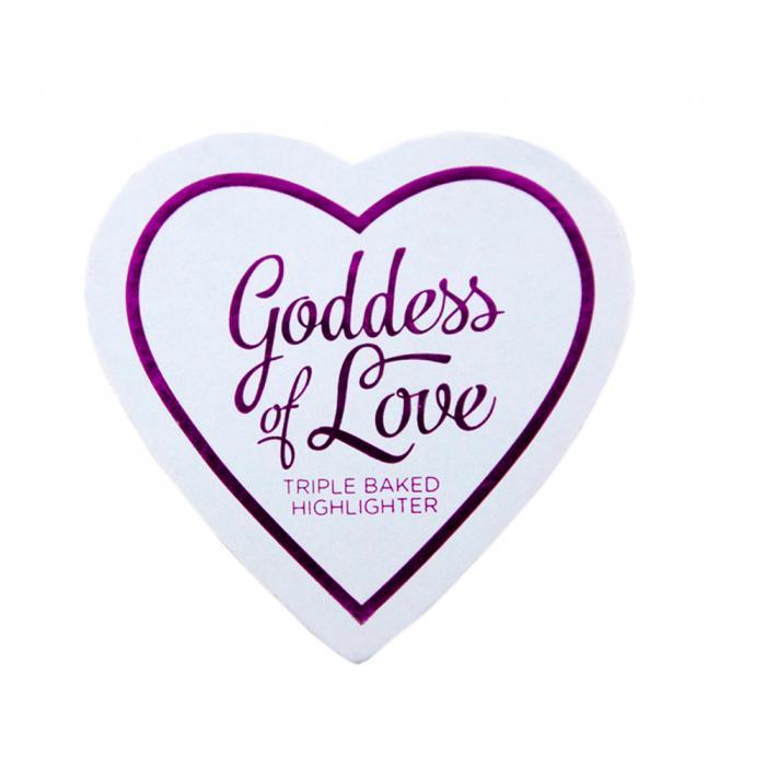 Iluminator Makeup Revolution I Heart Makeup Blushing Hearts Baked Highlighter - Golden Goddess, 10g-big