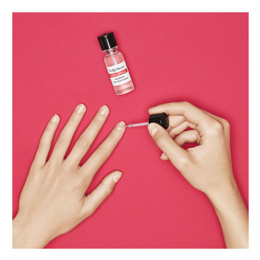 Ser tratament pentru intarirea unghiilor, Sally Hansen Hard as Nails, Transparent, 13.3 ml-big