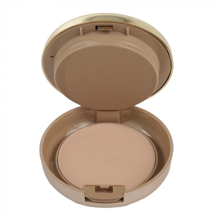 Kit cu 2 Pudre compacte, Rezistente la Transfer, efect mat, She Loves Best Face Powder, 02-big