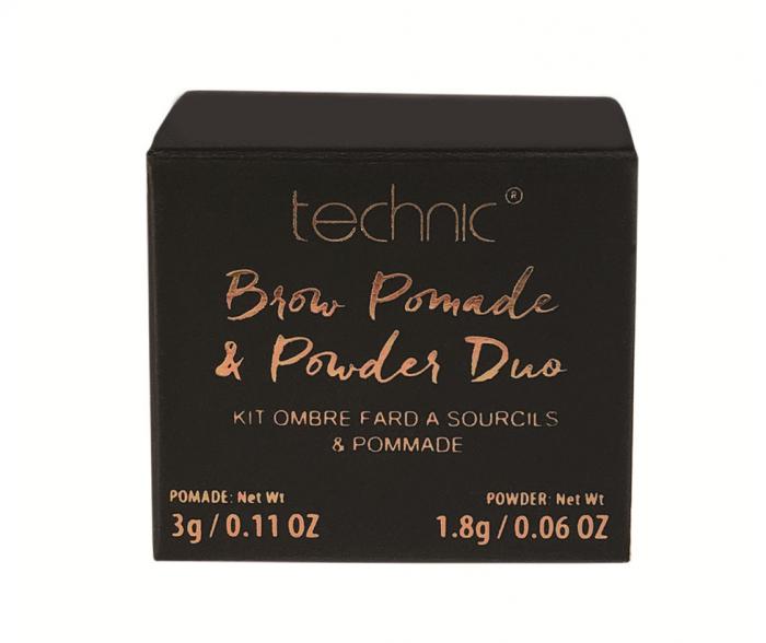 Kit pentru sprancene TECHNIC Brow Pomade & Powder Duo, Dark, 3 g + 1.8 g-big