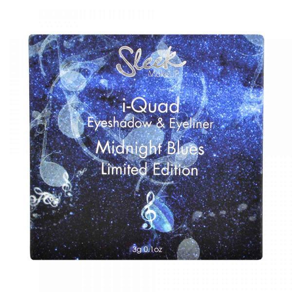 Kit Farduri si Tus de Ochi SLEEK MakeUP i-Quad Eyeshadow & Eyeliner Limited Edition - Midnight Blues, 3g-big