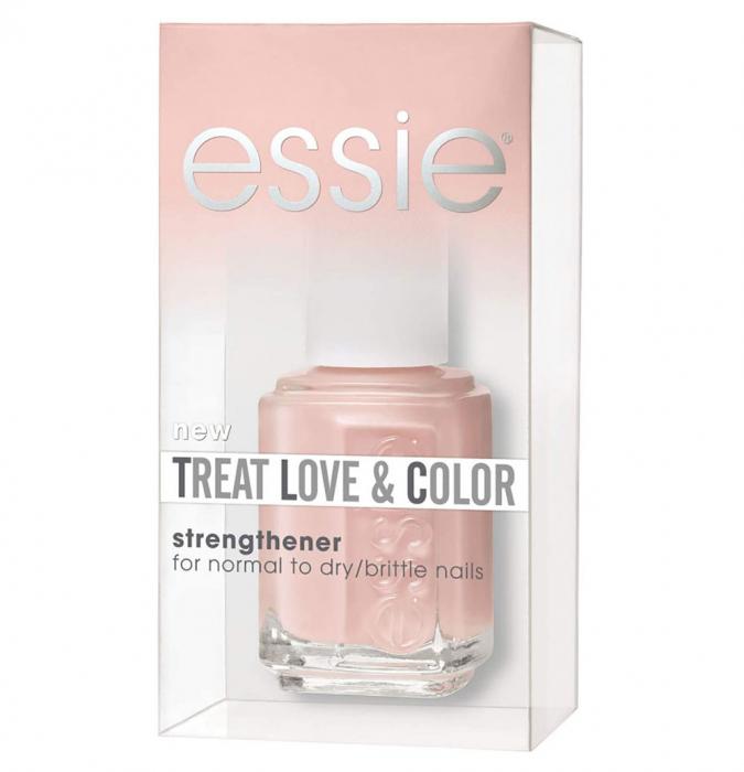 Lac de unghii intaritor pentru unghii fragile, ESSIE Treat Love & Color, 02 Tinted Love, 13.5 ml-big