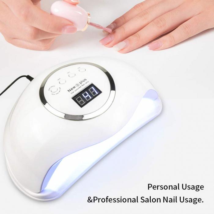 Lampa profesionala unghii UV LED Smart 2.0 NEW5plus, 72 W, Activare prin senzori,Uscare 10s-99s, pentru uscat oja semipermanenta sau gel UV-big