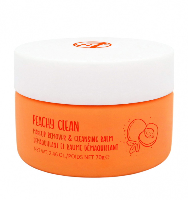 Balsam demachiant cu piersici W7 Peachy Clean Makeup Remover and Cleansing Balm, 70 g-big