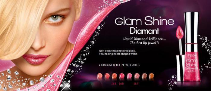 Gloss L'oreal Glam Shine Diamant - 167 Coral Carat-big