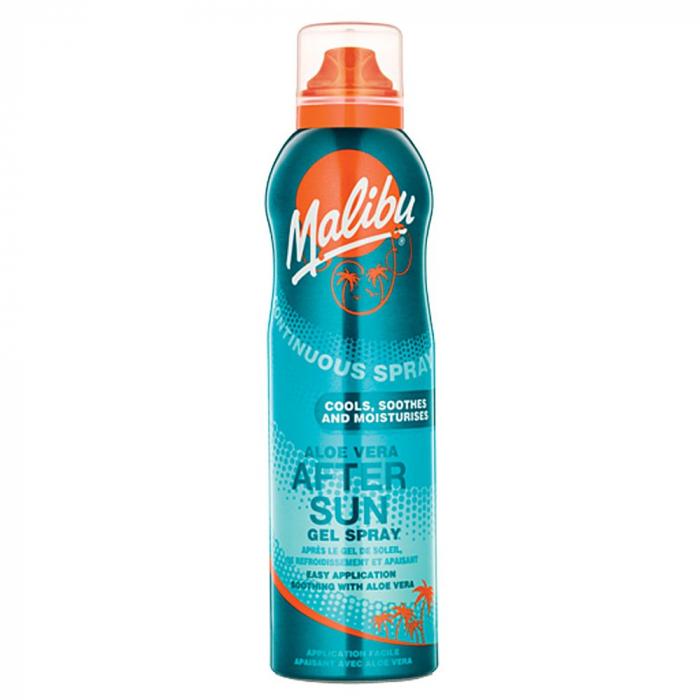Spray After Sun MALIBU Continuous Gel Spray cu Aloe Vera, 175 ml-big