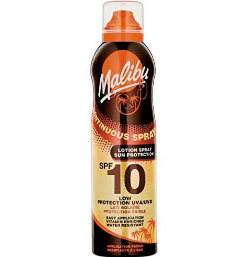 Lotiune Spray MALIBU Continuous Spray, Rezistenta la apa, UVA/UVB, SPF10, 175 ml-big