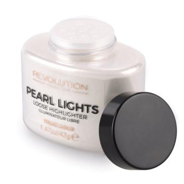 Iluminator Pulbere MAKEUP REVOLUTION Pearl Lights Loose Highlighter - True Gold, 25 g-big