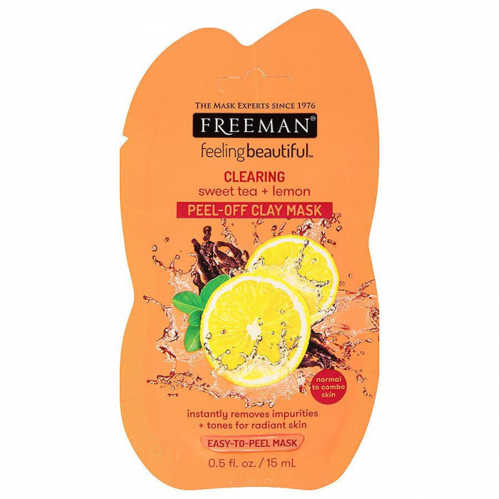 Masca de curatare antioxidanta FREEMAN Clearing Sweet Tea + Lemon Clay Mask, 15 ml-big