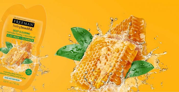 Masca curatare pentru tenul gras FREEMAN Manuka Honey + Tea Tree Oil Clay Mask, 15 ml-big
