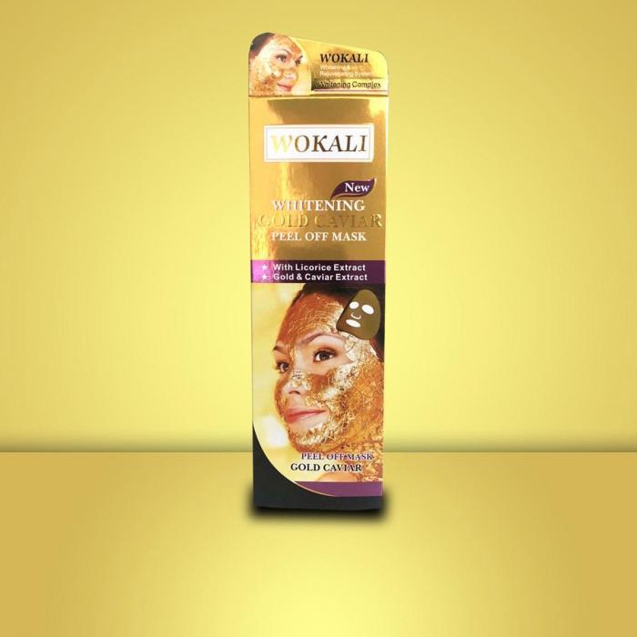 Masca de fata cu Caviar, Particule de Aur 24K si Colagen, Efect Intinerire si Anti Sebum, Wokali Gold Caviar Whitening, 130 ml-big