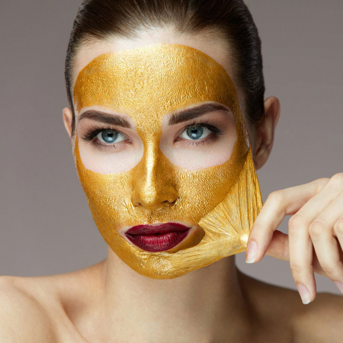 Masca de Fata cu Aur si Colagen BEAUTY FORMULAS, Anti-Rid, Anti-Sebum, 100 ml-big