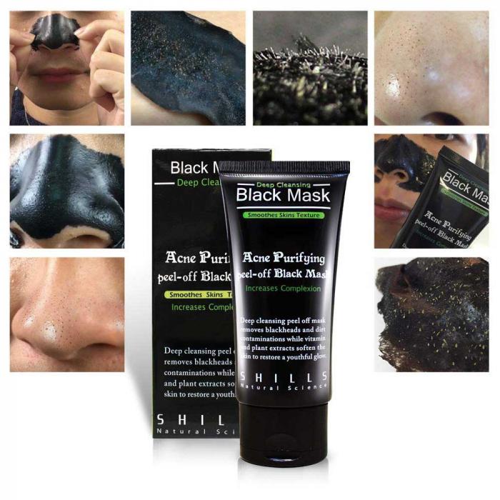 Masca neagra SHILLS Pore Black Mask pentru indepartat punctele negre, punctele de grasime, tratament acnee-big