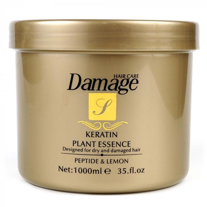 Masca tratament pentru par degradat cu KERATINA, Peptide si Lamaie, Damage Hair Care, 1000 ml-big