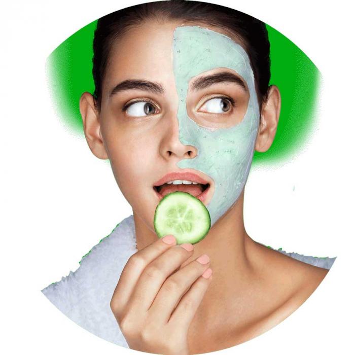 Masca detox cu efect de intinerire FREEMAN Rejuvenating Cucumber + Pink Salt Clay Mask, 15 ml-big