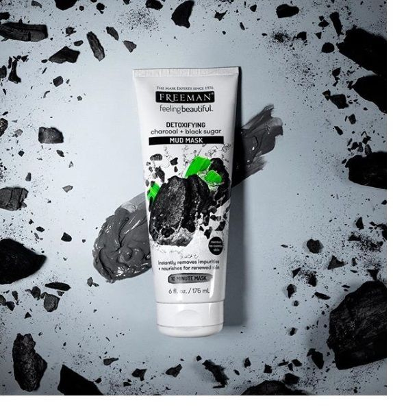 Masca detoxifianta cu carbune si zahar negru FREEMAN Detoxifying Charcoal + Black Sugar Mud Mask, 175 ml-big