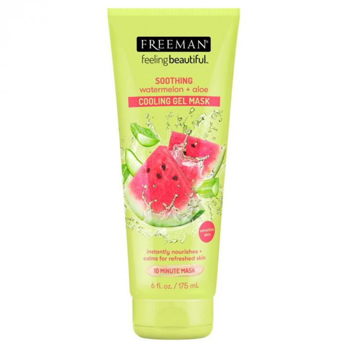 Masca exfolianta racoritoare cu Pepene si Aloe FREEMAN Gel Mask pentru tenul sensibil, efect calmant, 175 ml-big