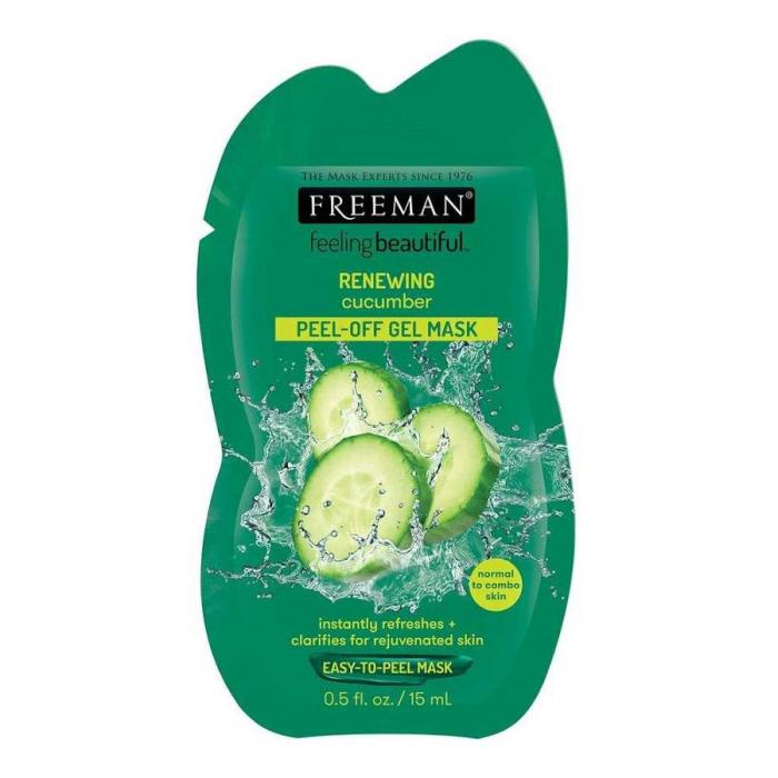 Masca exfolianta pentru ten obosit FREEMAN Renewing Cucumber Peel-Off Gel Mask, 15 ml-big
