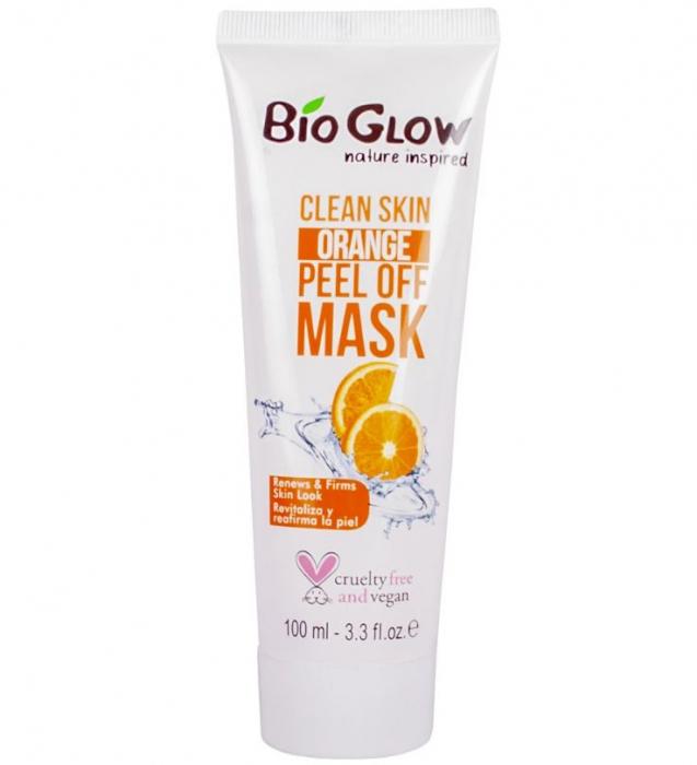 Masca exfolianta revitalizanta si regeneranta cu portocala, Bio Glow Clean Skin, Peel-Off Mask, 100 ml-big