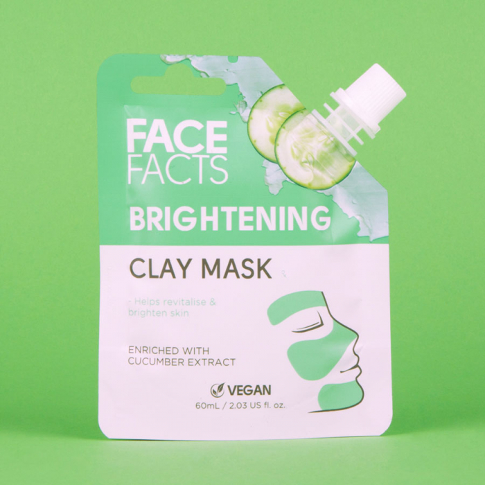 Masca Faciala cu extract de Castravete FACE FACTS Clay Mask, pentru Luminozitate si Revigorare, 60 ml-big