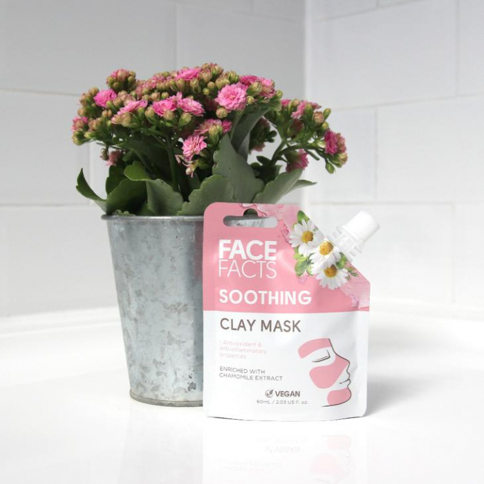 Masca Faciala Calmanta cu Musetel FACE FACTS Clay Mask cu proprietati Anti-Inflamatoare si Antioxidanti, 60 ml-big