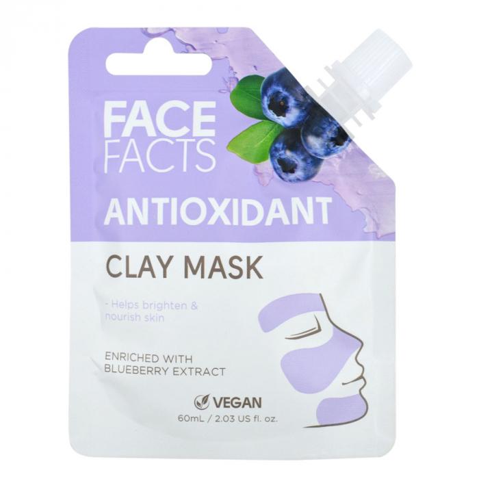 Masca Faciala Antioxidanta cu Afine FACE FACTS Clay Mask, imbogatita cu Vitamina C, 60 ml-big