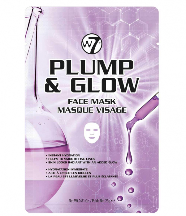 Masca anti-rid cu Acid Hialuronic si Peptide W7 Plump & Glow, 23 g-big
