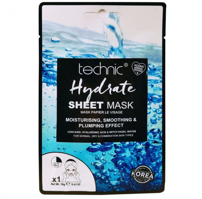 Masca Hidratanta cu Acid Hialuronic TECHNIC Hydrate Sheet Mask, 18 g-big