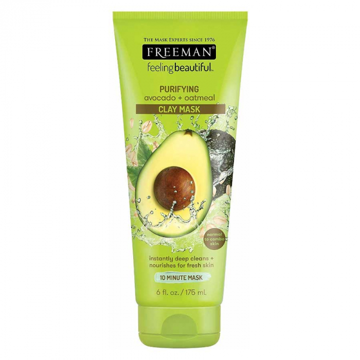 Masca hranitoare si purificatoare FREEMAN Purifying Avocado + Oatmeal Clay Mask, 175 ml-big