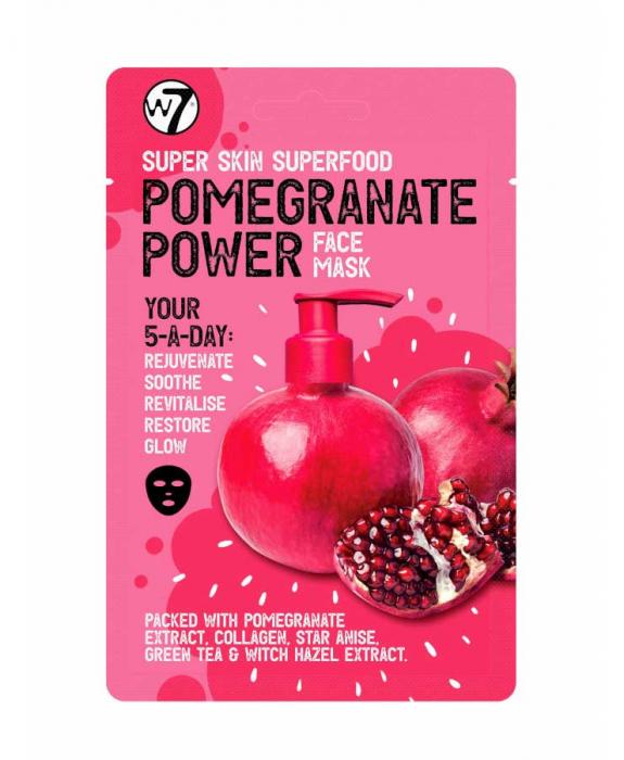 Masca hranitoare W7 Super Skin Superfood Pomegranate Face Mask, 18 g-big