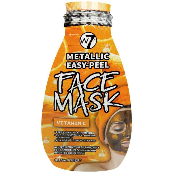 Masca Metalica cu Vitamina C, W7 Metallic Easy-Peel Face Mask, 10 g-big