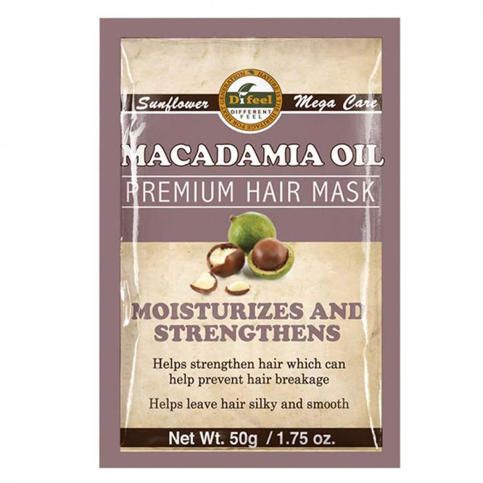 Masca premium pentru par Difeel din Ulei de Macadamia pentru intarirea si hidratarea firului de par, 50 g-big