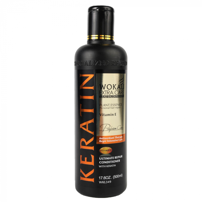 Balsam tratament pentru par degradat cu KERATINA si Vitamina E, Wokali Extra Care, 500 ml-big