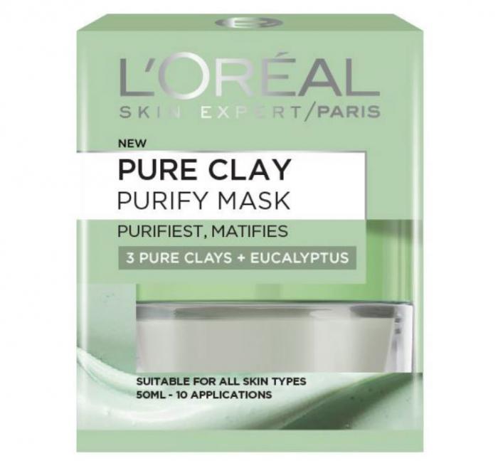 Masca purifianta pentru matifierea tenului cu extract de eucalipt L'Oreal Paris Pure Clay, Purity Mask, 50 ml-big