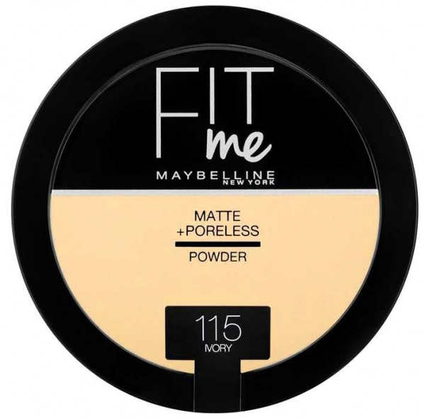 Pudra compacta matifianta Maybelline New York Fit Me Matte & Poreless Pressed Powder  - 115 Ivory, 14 gr-big