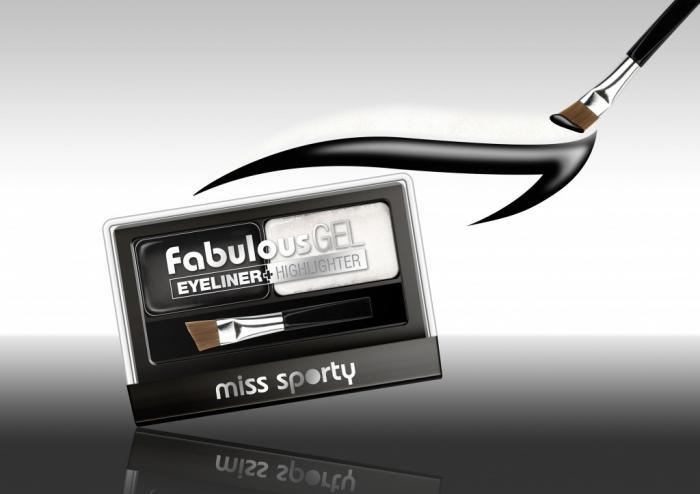 Paleta Tus De Ochi Si Iluminator Miss Sporty Fabulous Gel, Black & White-big