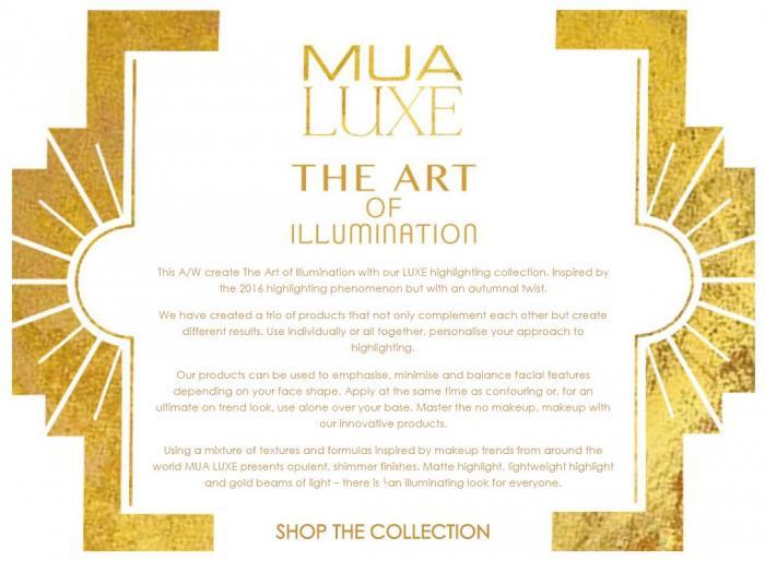Pudra iluminatoare aurie Luxe Glow Beam Highlighting Powder MUA Makeup Academy Professional, Gold-big