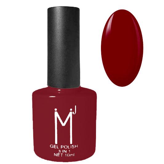 Oja semipermanenta 3 in 1, MJ Gel Polish, Nuanta 027 Dark Red, 10 ml-big