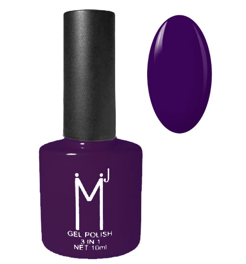 Oja semipermanenta 3 in 1, MJ Gel Polish, Nuanta 047 Dark Plum, 10 ml-big