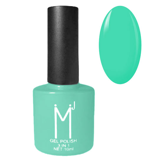 Oja semipermanenta 3 in 1, MJ Gel Polish, Nuanta 082 Turquoise Green, 10 ml-big